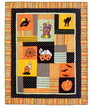Halloween Ghostly Ghouls Quilt