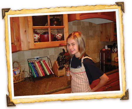 McKenzie is ready to cook!