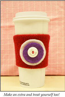 Craft an easy cup cozy!