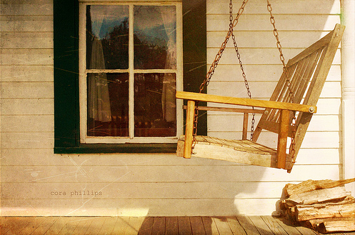 Porch swing from Cora's photo collection on Flickr!