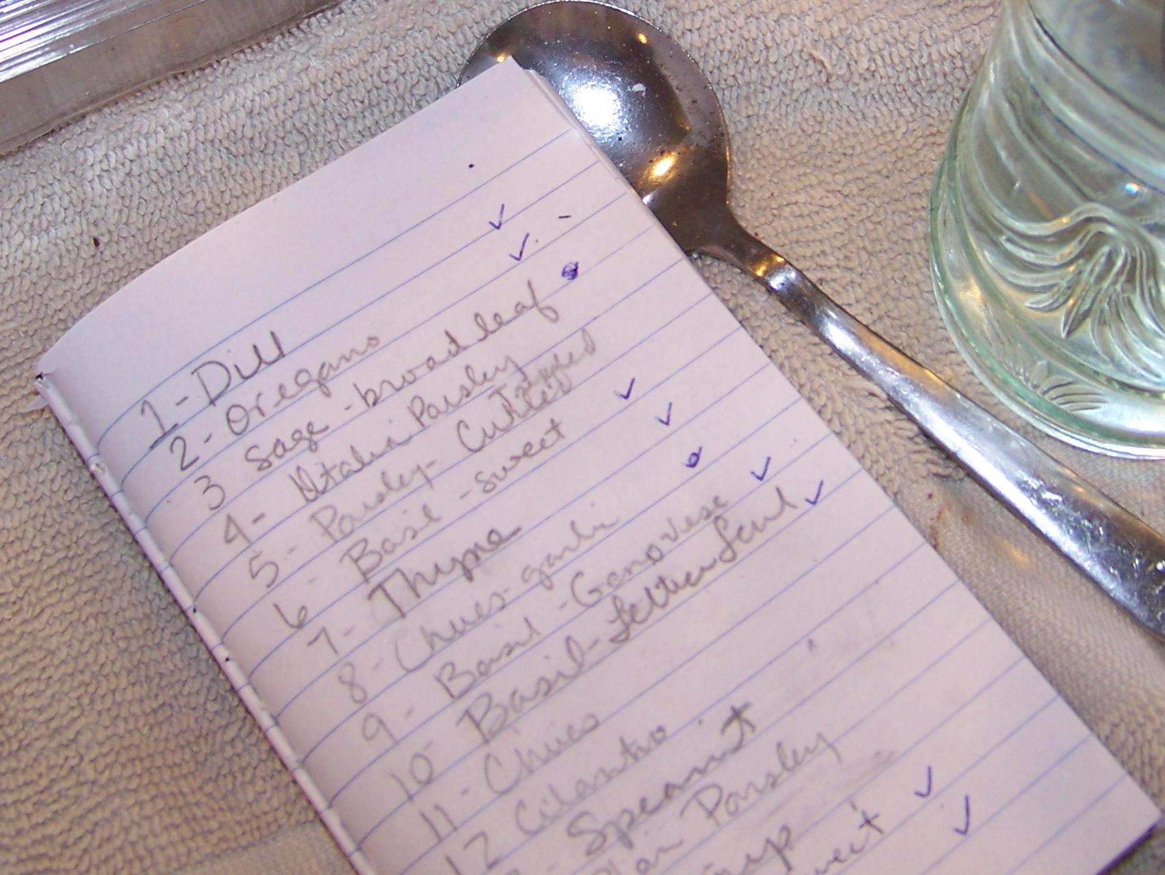 List of goodies!