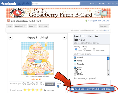 "Click ""Send a Gooseberry Patch E-Card Request"""