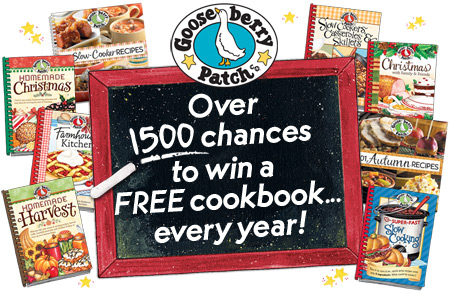 1,500 chances to win a FREE cookbook!