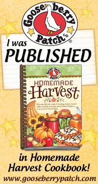 I Was Published in Homemade Harvest Cookbook