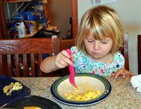 Enjoying the scrambled egg casserole...recipe below!