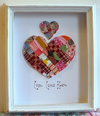 Love Lives Here Wall Art from Cora's Etsy shop!