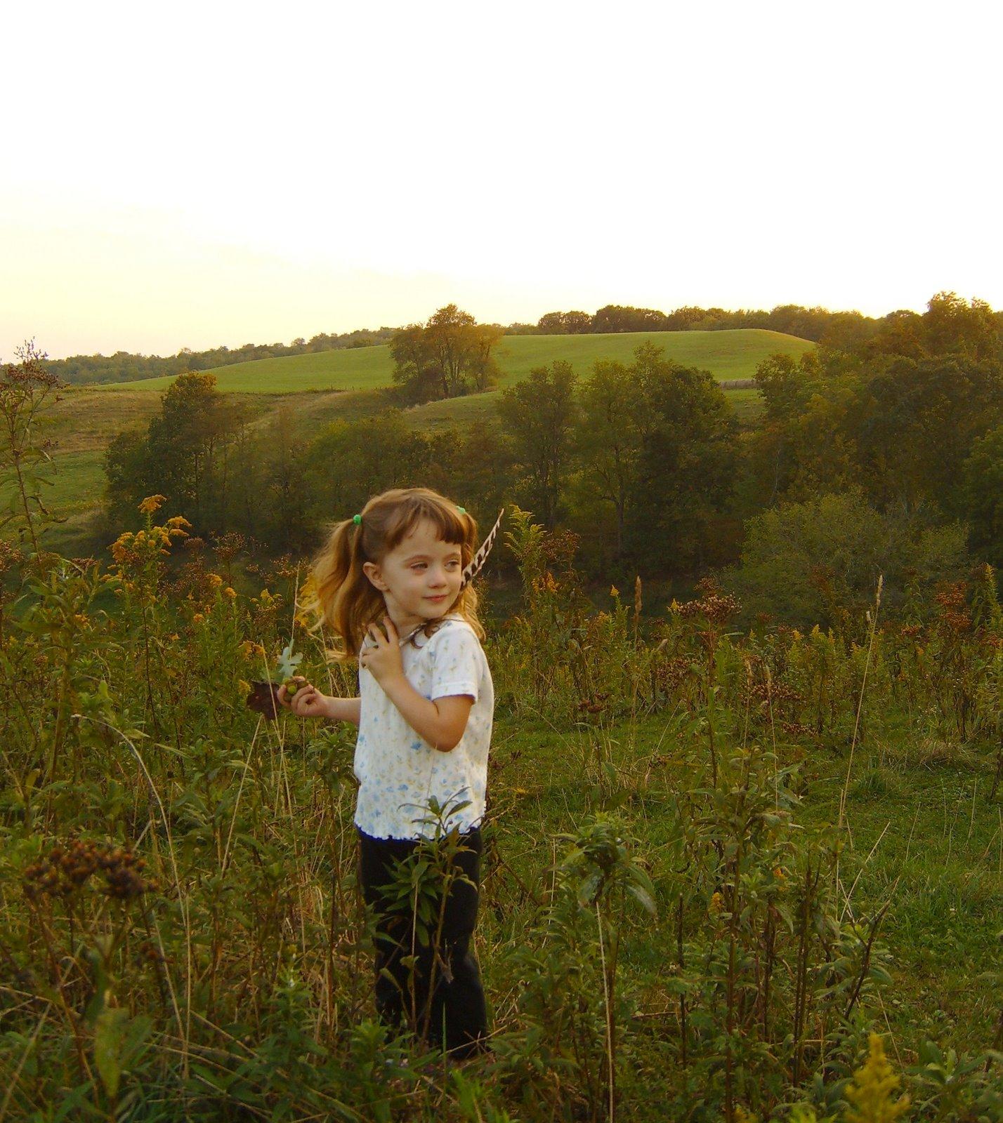 Emily on an adventure walk!