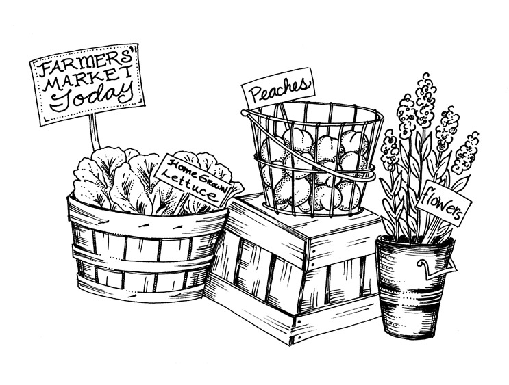 Coloring Pages Farmers Market | Coloring Pages