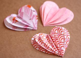 Folded-fabric-hearts