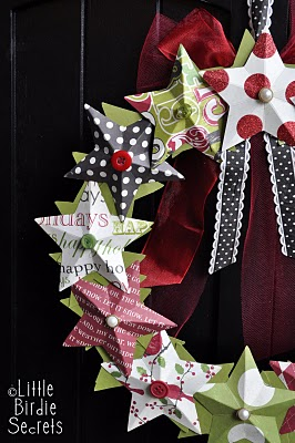 3D paper star wreath tutorial how to