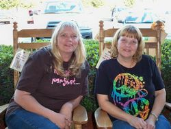 Tina and friend, Debi