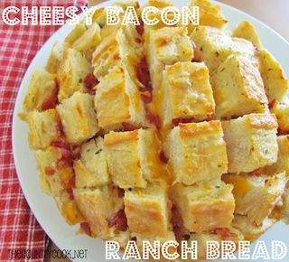 Cheesy Bacon Ranch Bread (with graphics)