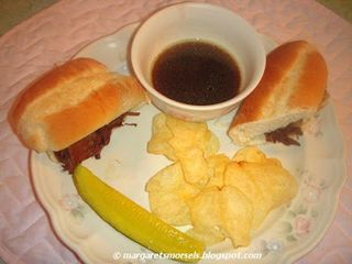 FRENCH DIP Plated Sandwich & Sides C