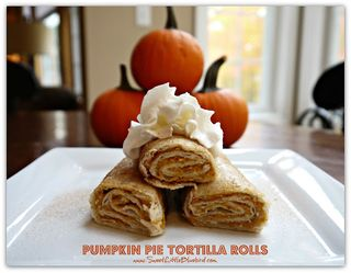 Pumpkin tortilla rolls 5