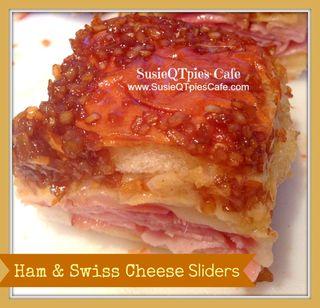 Ham swiss cheese sliders