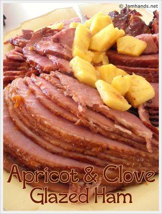 Apricot clove ham text