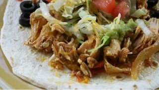 Slow Cooker Chicken Fajitas from Gooseberry Patch cookbook Slow Cooking All Year Round