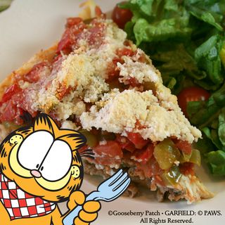 Vitos Deep Dish Sausage Pizza Recipe from Garfield...Recipes with Cattitude! | Gooseberry Patch Cookbook