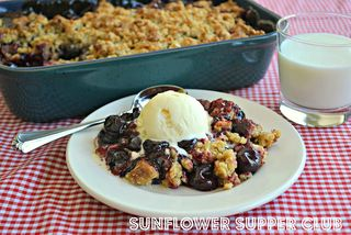 Cherry Cobbler from Sunflower Supper Club | Gooseberry Patch Recipe Round Up