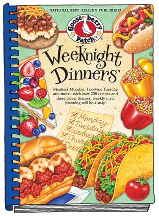 Weeknight Dinners cookbook from Gooseberry Patch