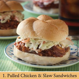 Pulled Chicken & Slaw Sandwiches | Recipe from 101 Stovetop Suppers | Gooseberry Patch