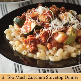 Too Much Zucchini Stovetop Dinner   Recipe from 101 Stovetop Suppers   Gooseberry Patch
