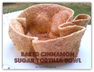 Baked Cinnamon Sugar Tortilla Bowls from Sweet Little Bluebird | Cinco de Mayo Recipe Round-Up | Gooseberry Patch