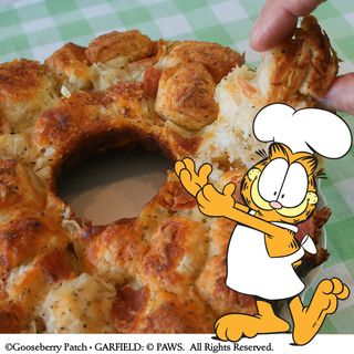 Pull Apart Pizza Bread Recipe from Garfield...Recipes with Cattitude! | Brand New Gooseberry Patch Cookbook