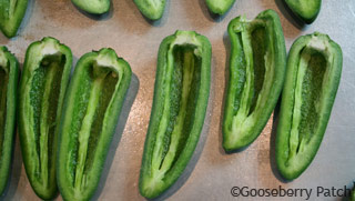 Healthy Jalapeno Poppers recipe from Gooseberry Patch cookbook, Game Day Fan Fare