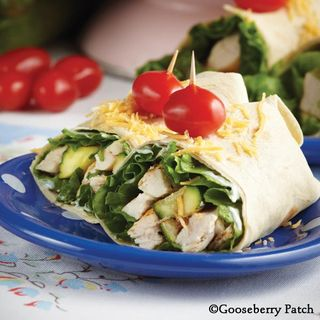 Grilled Chicken Zucchini Wraps Recipe   Lightened Up Recipe Round Up   Gooseberry Patch
