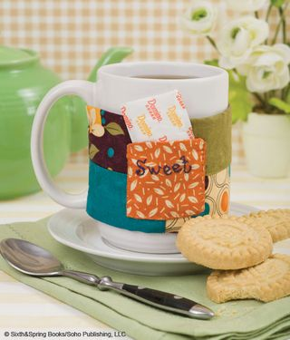 Make this Mug Cozy   Free Project and Giveaway!   Gooseberry Patch Stitching for the Kitchen