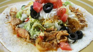 Slow Cooker Chicken Fajitas from Slow Cooking All Year Round cookbook | Gooseberry Patch