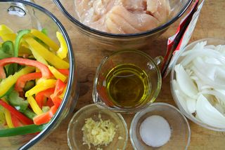 Ingredients for Slow Cooker Chicken Fajitas | Slow Cooking All Year Round cookbook | Gooseberry Patch