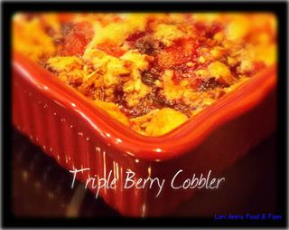 Buttery Triple Berry Cobbler from Lori Ann's Food & Fam | Gooseberry Patch Recipe Round Up
