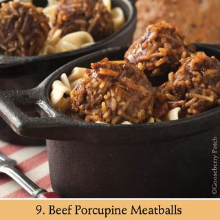 Beef Porcupine Meatballs | Recipe from 101 Stovetop Suppers | Gooseberry Patch