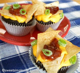 Nacho Cupcakes from Sweet Simple Stuff | Featured in April Fool's Day recipe slideshow from Gooseberry Patch