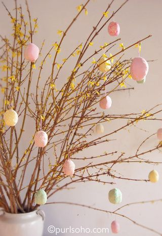 Patchwork Eggs from Purl Soho   Featured in Gooseberry Patch Fresh Picked Inspiration slideshow