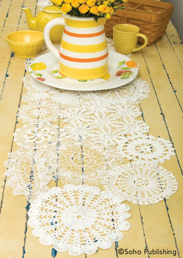 Doily Table Runner   DIY Project From Gooseberry Patch