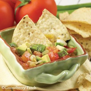 Vickie's Gazpacho Dip | Cinco de Mayo recipes from Gooseberry Patch