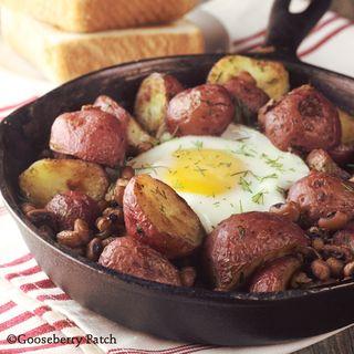 black eyed peas potato skillet