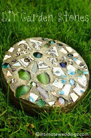 DIY Garden Stones from Intimate Weddings