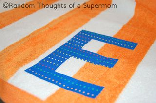 Reinventing the Beach Towel: Personalized Towel from Random Thoughts of a Supermom | Featured on Gooseberry Patch
