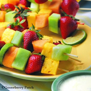 Gooseberry Patch Fresh Fruit Kabobs & Poppy Seed Dip Recipe
