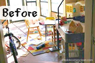 Organize the kids' playroom | Spring cleaning idea from A Slob Comes Clean, featured on Gooseberry Patch