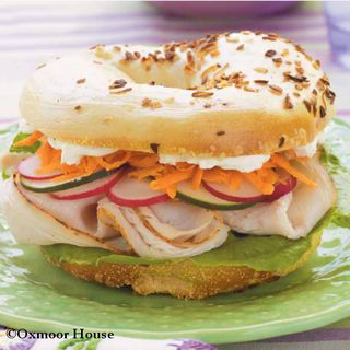 Gooseberry Patch Turkey-Veggie Bagels