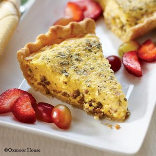 Gooseberry Patch Herbed Sausage Quiche Recipe