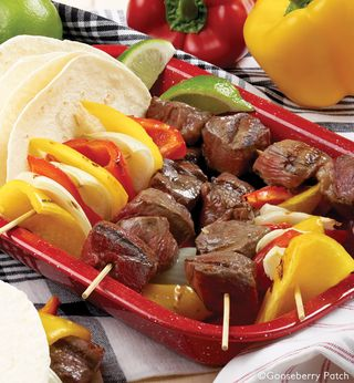 Beef Fajita Skewers   8 Easy Summertime Kabob Recipes from Gooseberry Patch