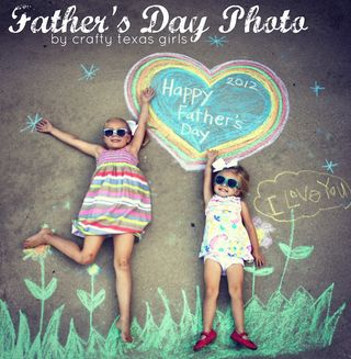Custom Father's Day Photo from Crafty Texas Girls