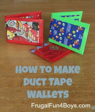 Duct Tape Wallet from Frugal Fun 4 Boys