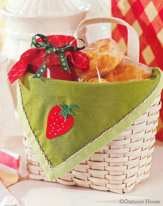 Free Basket Liner pattern and embroidery key | Download from Gooseberry Patch